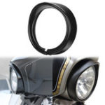 New 7inch Headlight Headlamp Trim Ring Protect Guard Cover Cap Black For Harley
