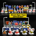 New 28Pcs Car Toy Traffic Road Signs Kids Funny Play Education Toy Game Accessories Toys