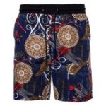 New Mens Summer Holiday Printing Elastic Waist Loose Beach Short