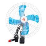 New 12V/24V Car Oscillating Fan Camping Travel Portable Clip Cooling Conditioner Fan
