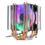 New 4Pin 4 Heatpipes Colorful Backlit CPU Cooling Fan Cooler Heatsink For Intel AMD