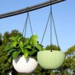 New Fashion Plant Hanging Basket Flower Pot Stainless Steel Chain Planter Garden Home Decorations