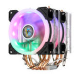 New 4Pin Dual Fans 4-Heatpipes Colorfule Backlit CPU Cooling Fan Cooler Heatsink For Intel AMD