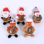 New 5 Types Christmas Candy Storage Basket Santa Claus Home Decorations Ornaments