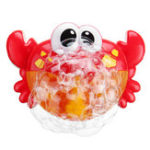 New Adorable Crab Bubble Machine Music Bubble Maker Bath Baby Bath Shower Fun Red Plastic Toys