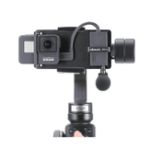 New PT-6 For Gopro Vlog Plate with Mic Adapter for 3 Axis Gimbal Moza Mini S Smooth 4 Vimble 2 Vlogging Metal Case for Gopro 7/6