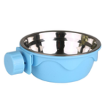 New Dog Cat Hanging Bowl Stationary Drinking Bowl Stainless Steel Water Food Feeder Feeding Dog Puppy Cat Pet Bowl