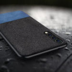 New Bakeey Luxury Fabric Splice Soft Silicone Edge Shockproof Protective Case For Xiaomi Mi9 SE