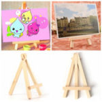 "New 10 pcs 2.75"" x 4.72"" Tablet Drawing Board Holder Wooden Easels Art Painting Stand Display for Kids Student Artist Supplies"