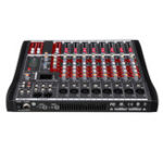 New 8 Channel bluetooth Mic Live Mixing Studio Audio Transmission Sound Mixer Console 48V Phantom