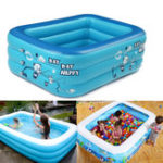 New 180cm Inflatable Thicken Swimming Pool Rectangle Baby Children Bathing Tub 3 Layer Pool Summer Water Fun Play Toy