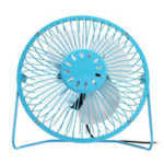 New 6 Inch USB Small Desk Fan Portable 4 Blades Cooler Cooling Fan For Camping Travel