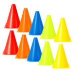 New 10Pcs/Set Plastic Training Cones Sport Marking Cups Soccer