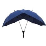 New Honana Fancytime Two-pole Couple Umbrella Rain Women Semi-automatic High-end Women Umbrella Double Top and Pole Umbrella