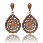 New Bohemian Water Drop Diamond Earring
