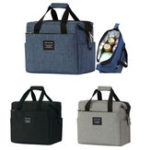 New 10L Portable Insulated Thermal Lunch Box Cooler Carry Tote Picnic Food Container Storage Bag Pouch Outdoor Camping