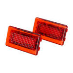 New 4 SMD LED Door Side Warning Signal Light High Output Interior Flash Lamp Red Upgrade 2PCS for Tesla Model S X