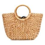 New JOSEKO Straw Bag Women Summer Rattan Bag