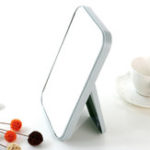 New Single face Cosmetic Mirrors Table Large Square Mirror Portable Folding Princess Mirror