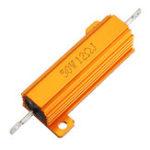 New RX24 50W 12R 12RJ Metal Aluminum Case High Power Resistor Golden Metal Shell Case Heatsink Resistance Resistor