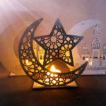 New Wood DIY Decorations Islamic Palace Eid Al-Fitr Mubarak Gifts Home Ornament