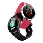 New Bakeey YX09 1.3′ Custom Dial Real-time Heart Rate Monitor Large Battery Message Push Music Control Smart Watch