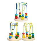 New Cartoon Animal Mini Round Beads Early Education Puzzle Infants Wooden Toys