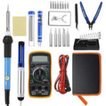 New 25 In 1 60W Electric Solder Iron Welding Tool Kits Adjustable Temperature Multimeter