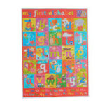 New ABC Alphabet Learn Children's Educational Silk Cloth Poster Wall Chart Decor