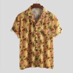 New Mens Summer Vacation Casual Floral Printing Hawaiian Shirts