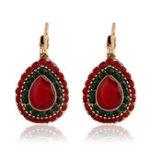 New Bohemian Red Crystal Earrings