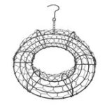 New Iron Ring Wire Wreath Frame Succulent Flower Pot Metal Hanging Planter Holder