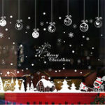 New Xmas Christmas Window Sticker Snowflake Reindeer Santa Claus Tree Home Decor New Wall Sticker