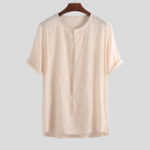 New Mens 100% Cotton Crew Neck Breathable T-Shirts
