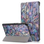 New Tri-Fold Pringting Tablet Case Cover for Samsung Galaxy Tab S5E SM-T7290 SM-T725 Tablet – Tree Leaves