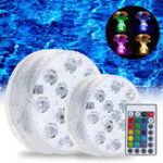 New Swimming Pool Light LED Underwater Remote RGB Control Multi Color Fountain Light