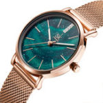 New SHENGKE SK K0103 Aurora Starry Dial Women Quartz Watch
