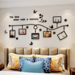 New 3D Acrylic Photo Frame Wall Sticker Bedroom TV Background Home Office Decorative