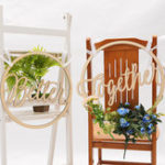 New 2Pcs Wedding Chair Signs Decorative Wooden Pendants Groom Bride Party Decorations