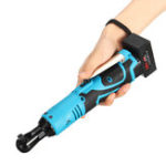 New Portable 28V Cordless Rechargeable 3/8 Inch Electric Right Angle Wrench Ratchet 60N.m