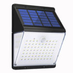 New AUGIENB 88LED 600lumen Garden LEDs Split Solar Powered Light Motion Sensor Waterproof Wall Lamp Remote/Voice Control(50dB)