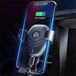 New Qi Wireless Charger Air Vent Gravity Linkage Car Mount Car Phone Holder For 4.7-6.3 Inch Smart Phone