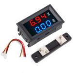 New 0.56″ Blue Red Dual LED Display Mini Digital Voltmeter Ammeter DC 100V 50A Panel Amp Volt Voltage Current Meter Tester