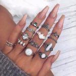 New 14 Pcs Retro Turtle Heart Finger Ring Set