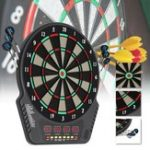 New 17″ Electronic Soft Tips Dart Board Set Digital LED Scoring Display Playing Game Toys