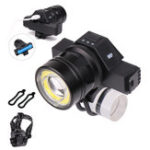 New  Waterproof USB Rechargeable Front LED Headlights Zoomable T6 COB LED Bike Light Back Cycling