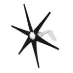 New 800W DC 12V/24V 6 Black Blades Power Wind Turbine Generator Kit