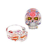 New Three Ash Holder Skull Glass Ashtray Accessories For Smoker (Random Color) Storage Tool Home Decorations