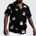 New Mens Summer Casual Fashion Funny Patches Printed Shirts