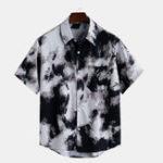 New Mens Summer Practical Pocket Printed Hawaiian Casual Shirts